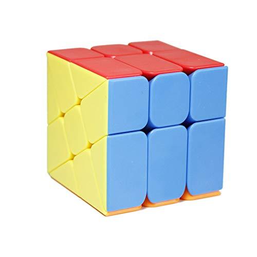 OJIN MoYu MOFANGJIAOSHI Cubing Classroom MFJS Meilong Windmill Cube 2x3 Shape Mod Wheel Fenghuolun Twisty Puzzle Cube Rompecabezas Rompecabezas con un trípode de Cubo (Sin Etiqueta)
