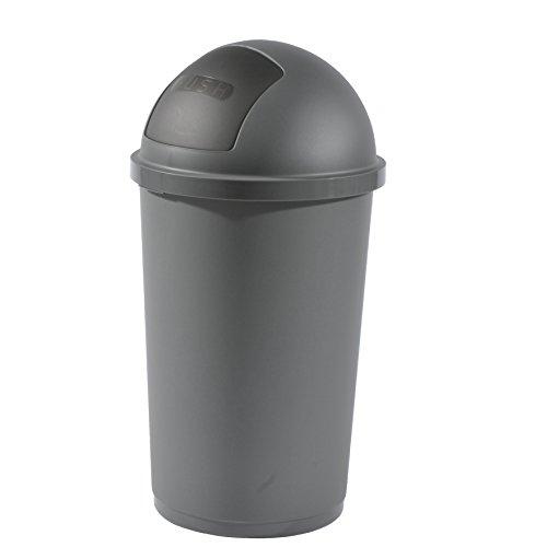 Mülleimer 60 Liter anthrazit Abfalleimer Abfallbehälter Müllsammler Papierkorb Müll Abfall Eimer