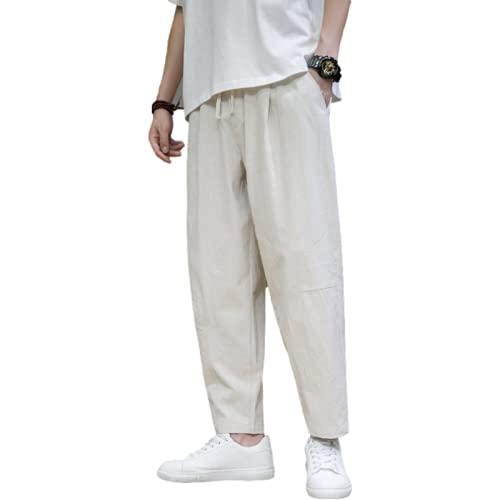Corumly Pantalones Casuales para Hombre, Pierna Recta Suelta, Transpirable, de Talla Grande, 9 Puntos,...