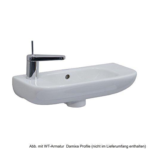 Duravit D-Code Handwaschbecken 50 x 22 cm mit Hahnloch links, weiss, 0706500009