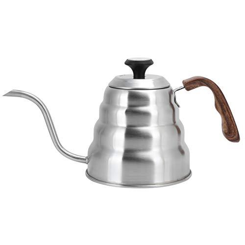 Raguso Tetera de café de Acero Inoxidable de 1.2L, Tetera para Verter sobre una Olla de Cuello de Cisne con cafetera, Tetera de café con Cuello de Cisne