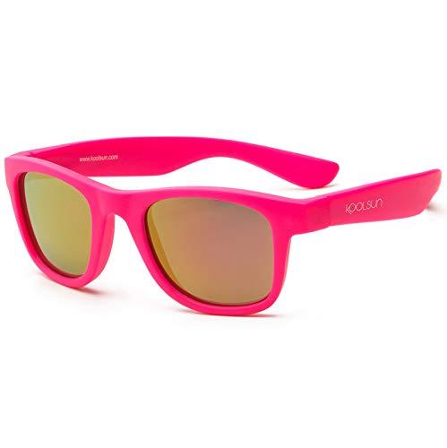 koolsun Baby Lunettes de soleil enfant Wave Fashion 1 + | Rose fluo effet miroir | 100% Protection UV | Optical Clas 1, Cat. 3 | Flexible & indestructibles
