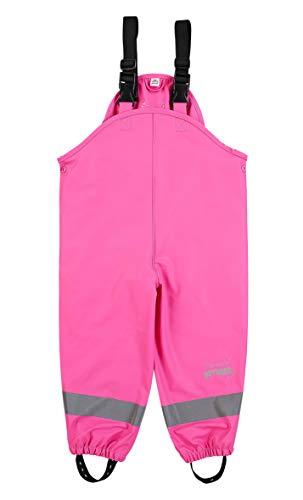Sterntaler Mädchen Regenhose mit Hosenträgern, Alter: 6-8 Jahre, Größe: 128, Pink