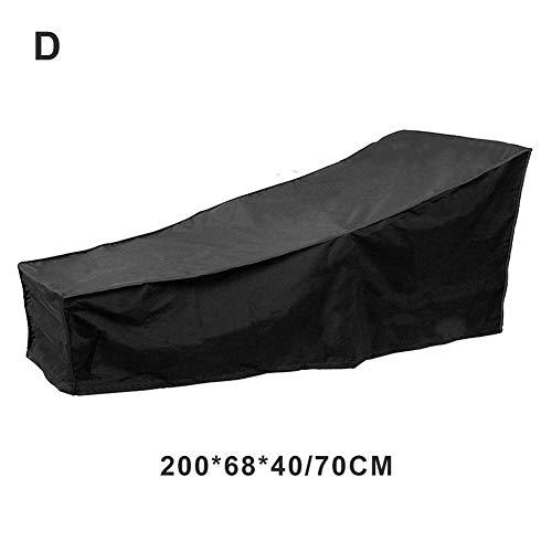 Chaise Lounge Cover para Patio Exterior Garden Patio, sillón Impermeable reclinable Funda Protectora
