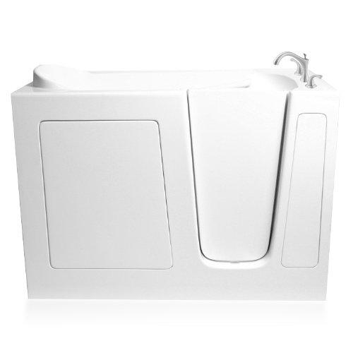 Ariel EZWT-3048-SOAKER-R Soaker Gel Coat Fiberglass Walk In Bathtub with Right Side Drain