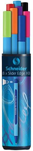 Schneider Slider Edge XB Ballpoint Pen 8-Pack, Black/Red/Blue/Green/Orange/Purple/Pink/Light Blue (152298) Photo #3