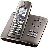 Siemens Gigaset SX455 ISDN schnurloses Telefon mit Farbdisplay und Anrufbeantworter, platin