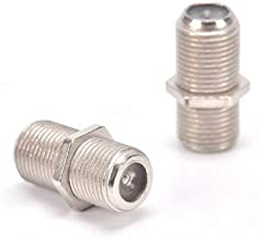 VCE 2-Pack Nickel Plated F-Type Coaxial RG6 Connector,Cable Extension Adapter