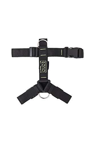 bub's Not Pull - arnés para Perro Mediano/pequeño Sistema Anti tirón (Comprobar tamaño: Cuello 34 a 57 cm Pecho 42 a 69 cm) Color Negro