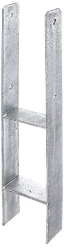 GAH-Alberts 203924 H-Pfostenträger, feuerverzinkt, Gesamthöhe: 600 mm, Materialstärke: 5 mm, lichte Breite: 111 mm