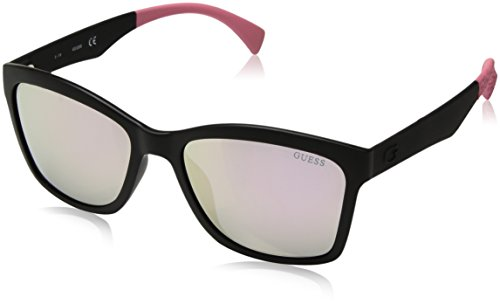 Guess Sun GU7434 02C-56-18-140 Gafas de sol, Negro (Black), 56 para Mujer