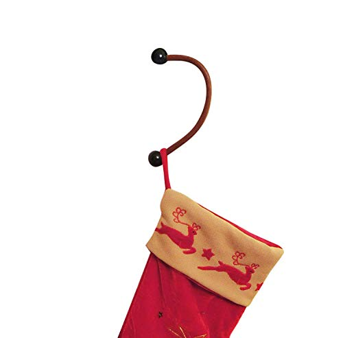 Supporti per Camino per Calze di Natale, Xmas, Fatti a Mano, in Legno, Stupendi