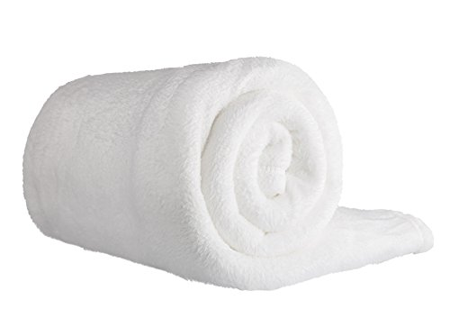Clinotest Mikrothermaldecke, Kuschel- Fleecedecke, Kochfest (Weiß)