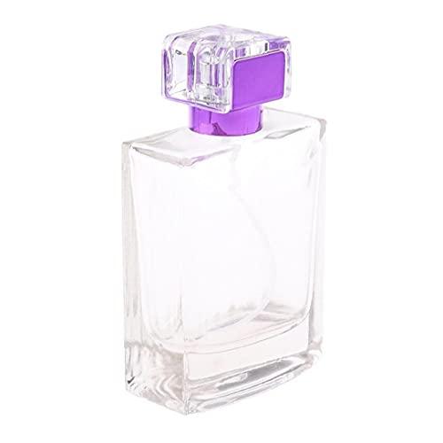Tuimiyisou 100ml Botellas De Perfume Atomizador Portátil con Bomba del Pulverizador Vaciado De Contenedores De Estética para Purple Viajeros