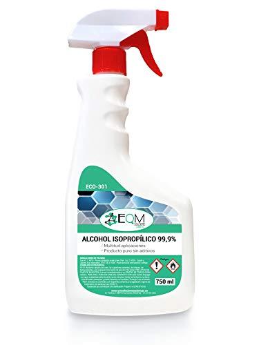 Alcohol Isopropílico 99,9% alta pureza IPA | Limpieza componentes electrónicos, objetivos, pantallas. Desinfección y limpieza superficies | Ecosoluciones Químicas ECO-301 | 750 Ml