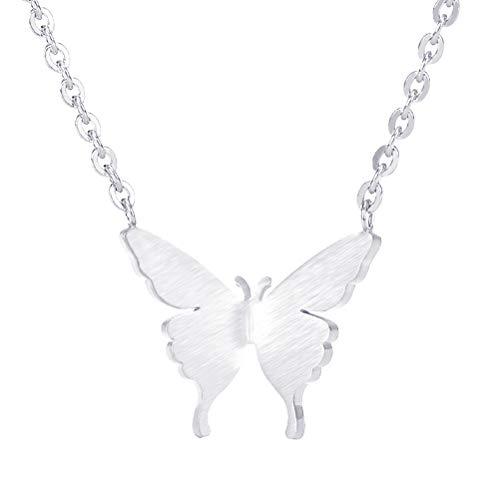 Opplei, collana placcata in argento 18 K, a forma di farfalla