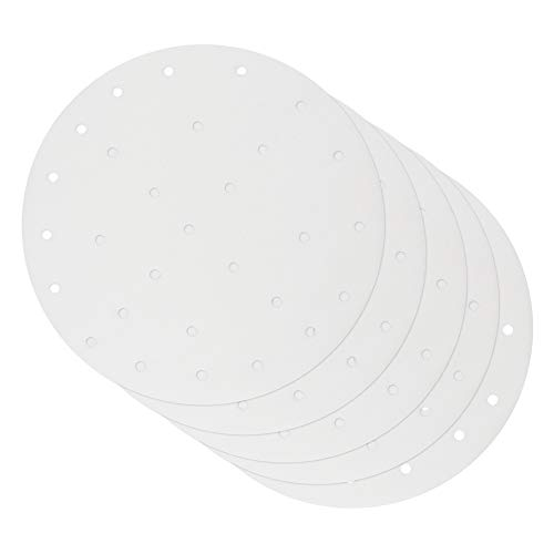 ShawFly 100 piezas de papel de pergamino redondos, papel de freidora de aire de 8 10 pulgadas, papel de hornear redondo desechable para el hogar para hornear pasteles, cocinar(10)