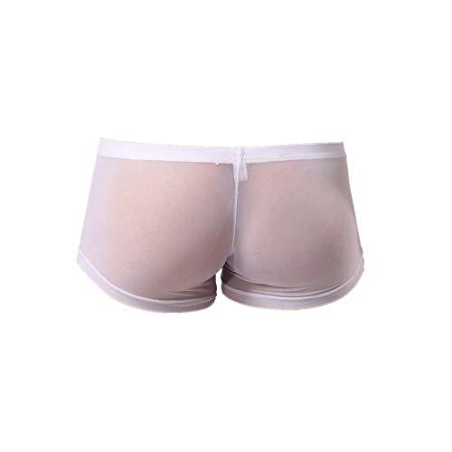 Sannysis Herren Mesh Perspektive Boxershorts Men Transparent Unterhosen Männer Sexy Boxer Erotische Unterwäsche Bequem Shorts