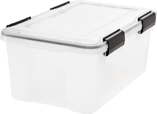 IRIS USA 110380 UCB-SS Weathertight Storage Box 19 Quart Clear