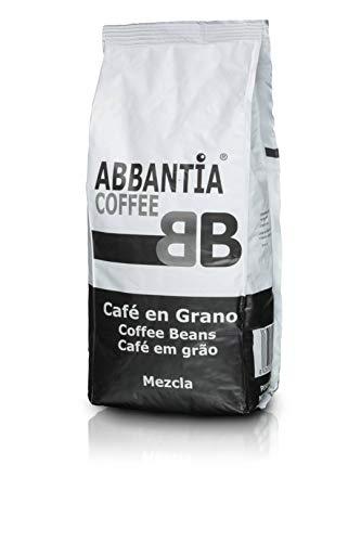 Abbantia Café en Grano Mezcla 80% de Tueste Natural y 20% Café Torrefacto 1 kg