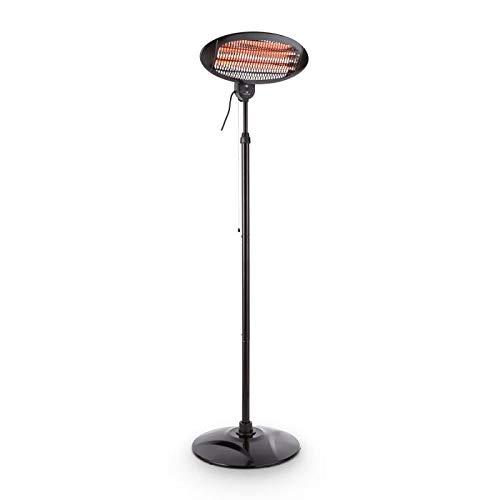 blumfeldt Hot Roddy, Stand-Heizstrahler, Infrarotheizung, Terrassenstrahler, 3 Heizstufen: 650, 1300 oder 2000 W, bis 15 m², 45° neigbar, schwarz