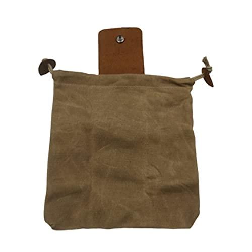 woyada Mehrzweck-Gürtel-Werkzeug Tasche mit Leder bezug & Schnalle, wasserdichter Faltbarer Schwerlast-Werkzeug Beutel mit Kordel Zug Garten-Obst-Pflück Tasche für Outdoor-Camping-Nahrungs Beutel