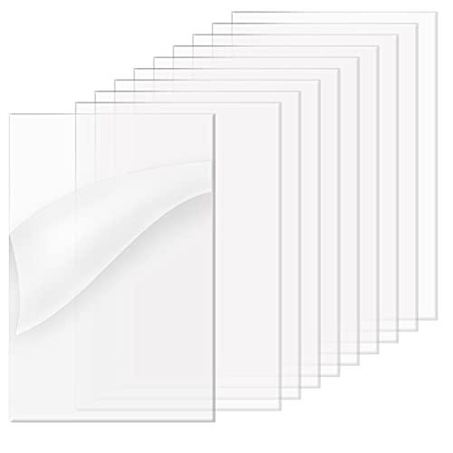 Plexiglass lastre acriliche ultra trasparenti per vetro di ricambio - set di 10 (12,7 * 18 * 2 cm)