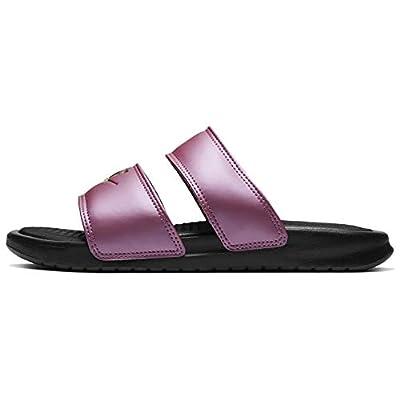 Nike Women's Benassi Duo Ultra Slides (Black/Purple, Numeric_8)