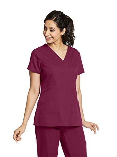 Grey's Anatomy 41452 Women's V-Neck Scrub Top Wine L