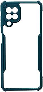 جراب خلفي لهاتف سامسونج جالاكسي M32 - شفاف أخضر