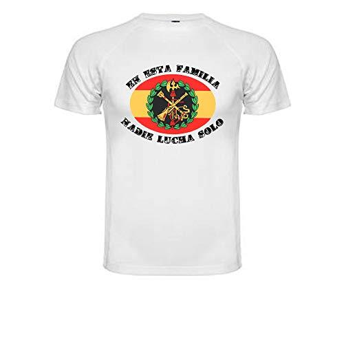 Camiseta Técnica Legión Española. En Esta Familia Nadie Lucha Solo 100% Poliester. (S)