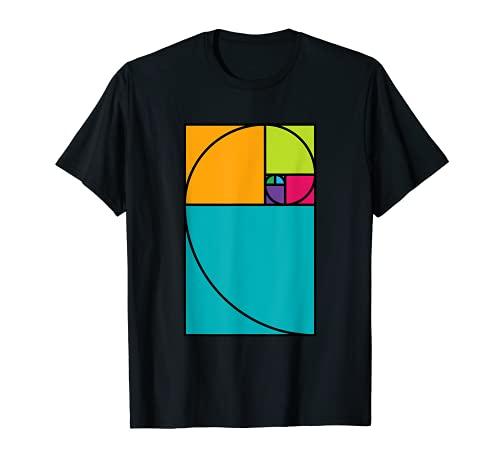Golden Ratio Spiral - Math Geek Science and Art T-Shirt Gift Camiseta