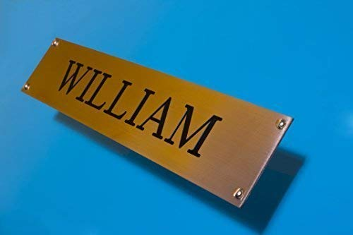 Loki Engraved Brass Stable Name Plate 150mmx 50mm