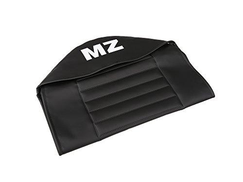 FEZ Sitzbezug strukturiert, schwarz mit MZ-Schriftzug - für MZ TS125, TS150