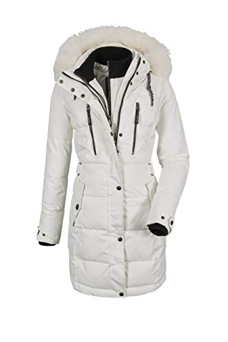 G.I.G.A. DX Ventoso WMN Quilted PRK D - Parka con capucha desmontable, color blanco, talla 46