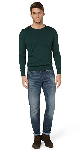 TOM TAILOR Herren MARVIN Straight Jeans , Blau (Mid Stone Wash Denim 1052) , W32/L32