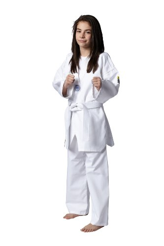 Kwon, Kimono Bambino Taekwondo Song, Bianco (Weiß), 160 cm