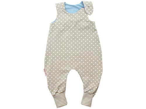Kleine Könige Body pour bébé avec petits rois - Modèle à pois - Beige/bleu clair/beige/blanc - Certifié Ökotex 100 - Tailles 50-92 - Beige - 50/56 cm