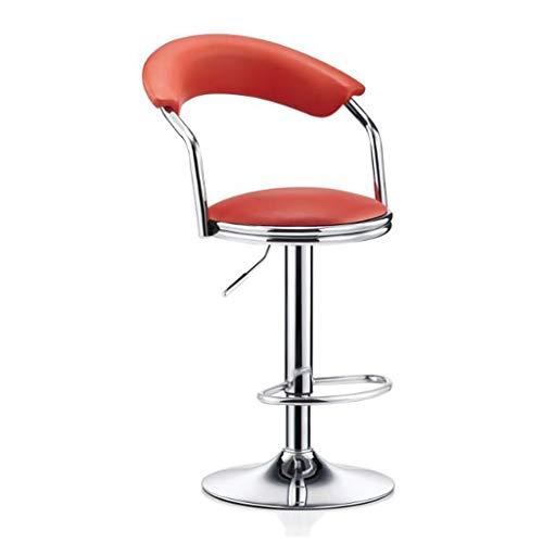 Keuken kruk, valse stoelen, leer, zitting, vrije tijd verstelbaar, van metaal, draaibaar, ontbijt, bruin, kruk, stool Rood