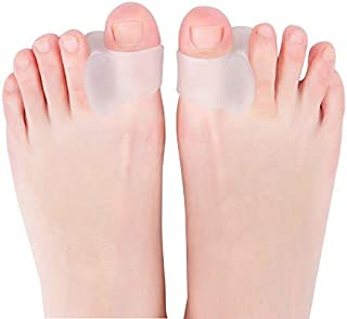 Toe Separators Hammer Toe Straightener, 6-Pack Big Toe Spacers to Separate Curled Tender Toes Correct Crooked Toes Bunion ...