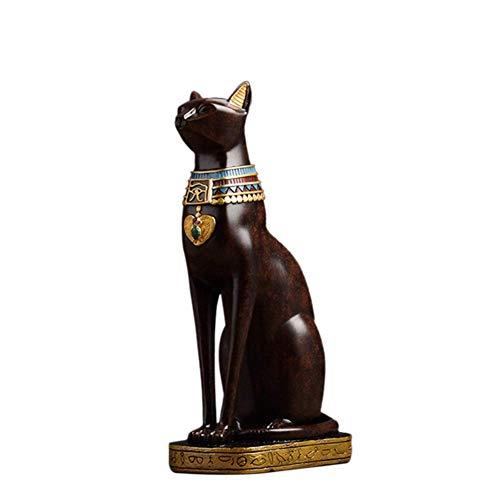 ZLBYB Dekoration Skulptur-Statue im Alter von Bronze Patina Resin Finish Tall Protector (Color : C)