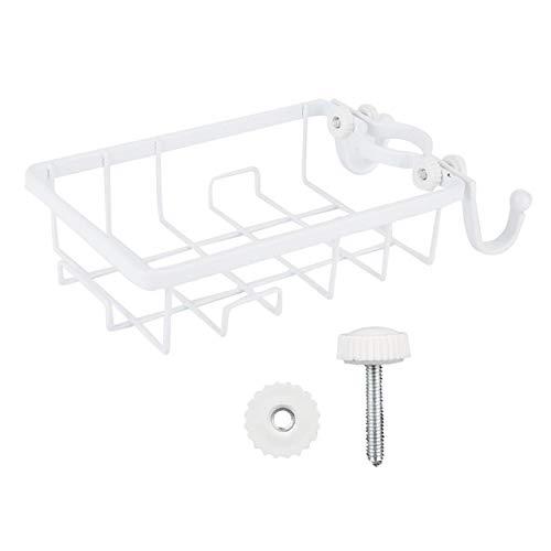 Raguso Estante de Almacenamiento sin Perforaciones Estante Colgante Estante de Drenaje con Ganchos para Baño Cocina(Blanco)