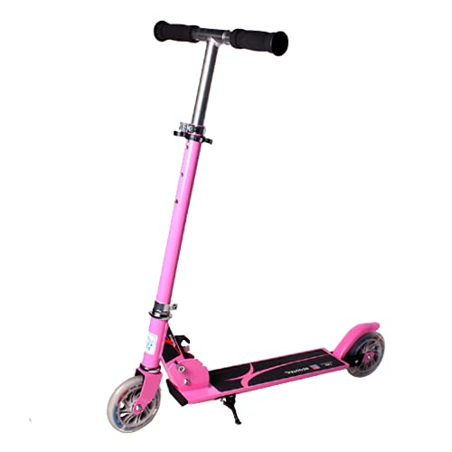 Scooter de Dos Ruedas para niños, Scooter Plegable, Scooter para niños,Pink