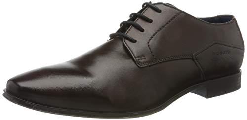 bugatti 3124201J4100, Zapatos de Cordones Derby Hombre, Marrón, 40 EU