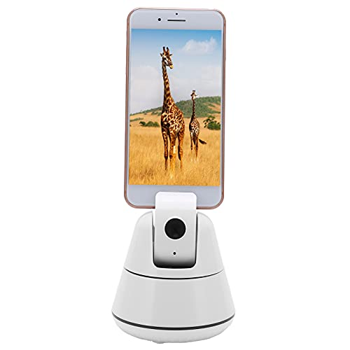 CUTULAMO Soporte para teléfono Celular con Seguimiento Facial, Soporte para teléfono de Escritorio de 10 RPM, Base de Seguimiento de 355 ° para cámara para Video en Tiempo Real