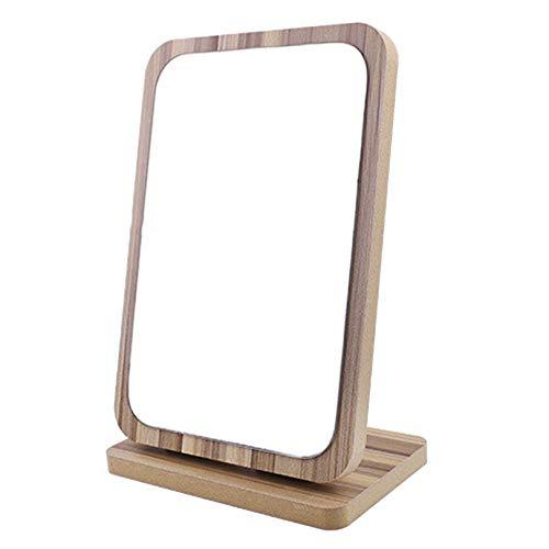 QHF Miroir de Maquillage en Bois Miroirs de vanité de comptoir inclinables à 90 ° pour Coiffeuse de Famille de dortoir