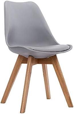 designbotschaft: Olbia Stuhl Weiß/ Eiche - Esszimmerstühle