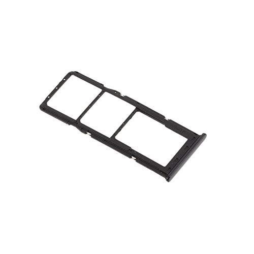 jbTec SD-Card/Dual SIM-Tray/Halter passend für Samsung Galaxy A21s - Slot Karte Schlitten Rahmen Holder Handy Card Fach, Farbe:Schwarz