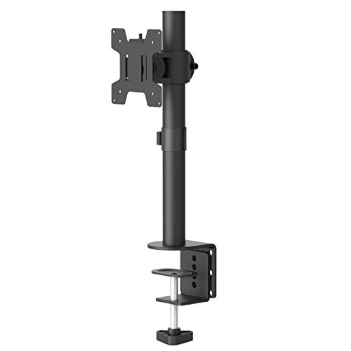 Single LCD Monitor Desk Mount Fully Adjustable Desk Mount Fit 1 Screen up to 27 inch 22 lbs Weight Capacity M001S Black by WALI