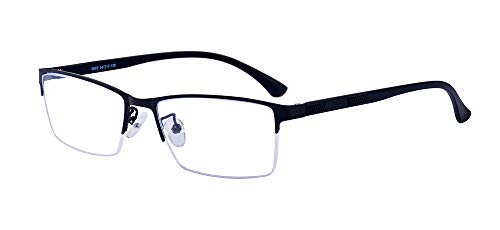 ALWAYSUV Blaulichtfilter Lesebrille Halbrandbrille Computerbrille Anti Blaulicht Lesehilfe Optische Brille